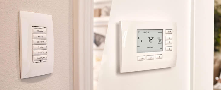 Control4 lighting and thermostat controls